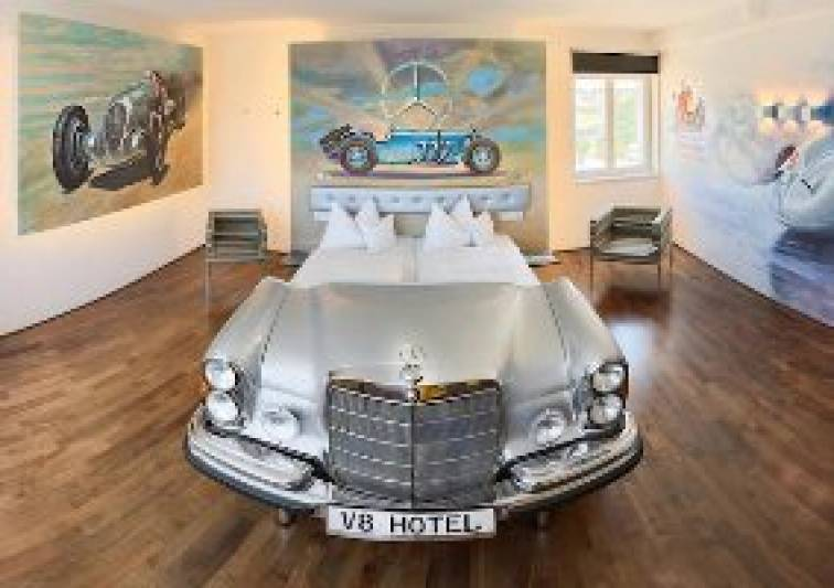 'V8 Hotel': Car themed hotel opened in Germany