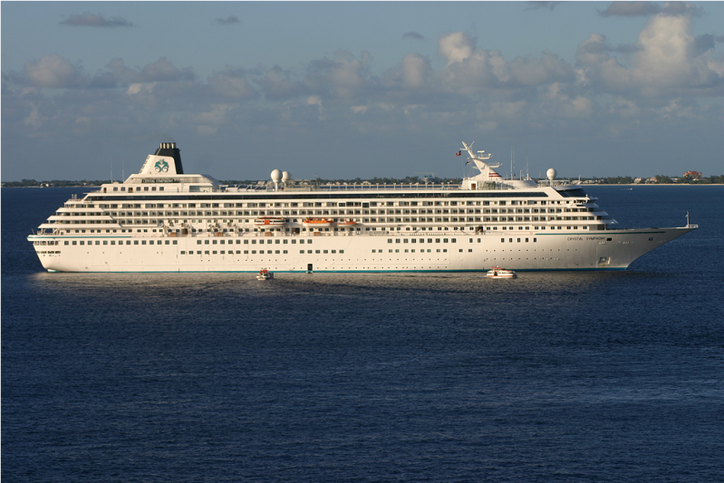 Crystal Symphony Back Cruising, Sails from Boston
