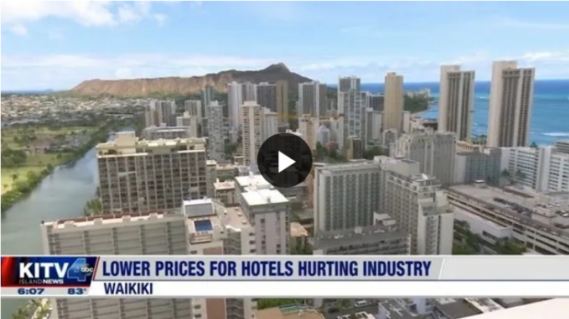 Hawaii hotel occupancy and room rates down