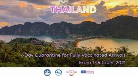 Thailand reduces quarantine period for international arrivals from 1 October 2021