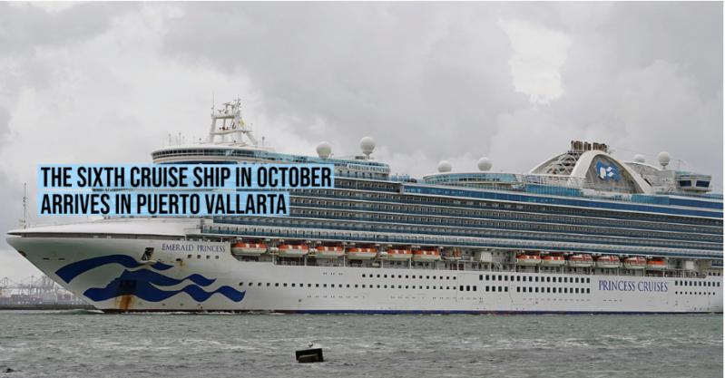 The sixth cruise ship in October arrives in Puerto Vallarta