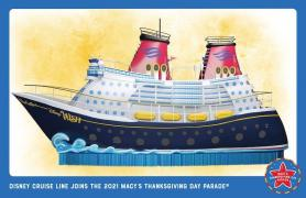 Disney Cruise Ship Float to Take Part in Macy's Thanksgiving Day Parade on Nov. 25